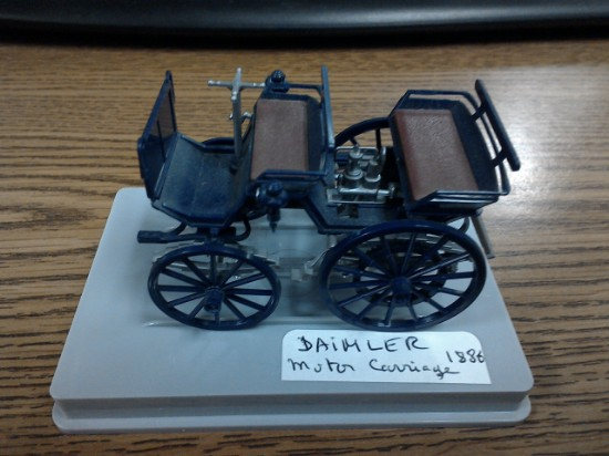 Picture of Daimler motor carriage 1886
