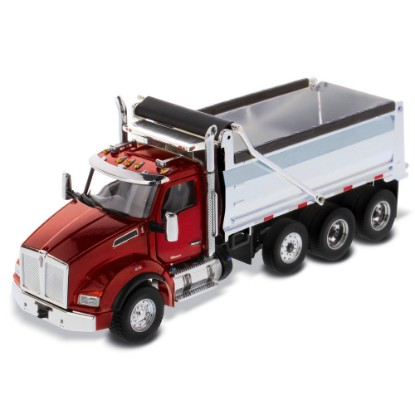 Picture of Kenworth T880 SBFA dump - red cab/chrome box