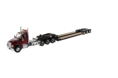 Picture of Kenworth T880  tridem tractor+XL lowboy+jeep - red/black