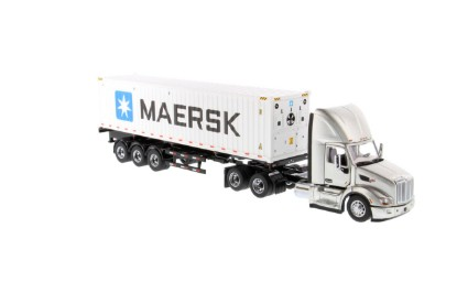 Picture of Peterbilt 579 with refrigerated sea container - silver  MAERSK