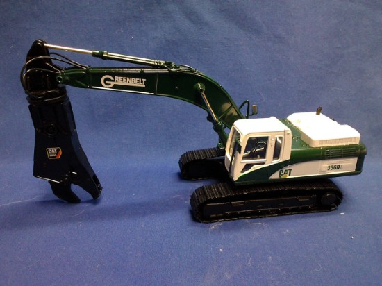 Picture of Caterpillar 336D track excavator with scrap shear - GREENBELT