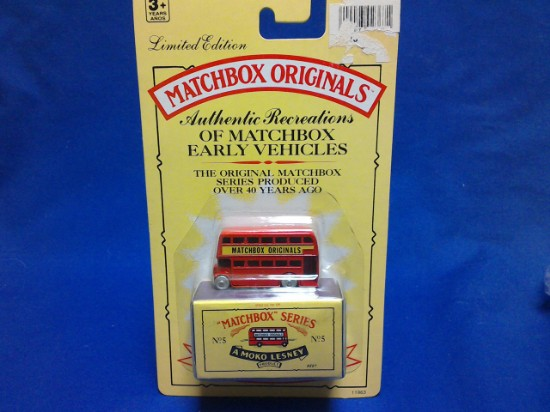 Picture of MATCHBOX ORIGINALS, AUTHENTIC RECREATIONS, NO 5 London Bus