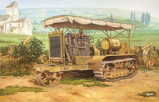 Picture of WWI Holt 75 Heavy Artillery Tractor