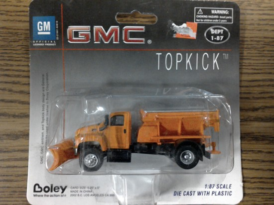 Picture of GMC Topkick snowplow/sander  - orange