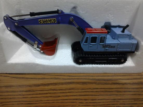 Picture of Mitsubishi MS280 track excavator   blue/purple
