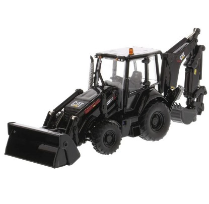 Picture of Caterpillar 420F2 IT tractor backhoe + 4 attachment - black