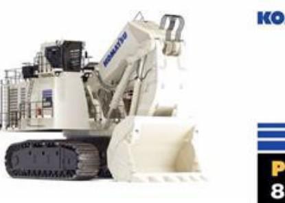 Picture of Komatsu PC8000-11 mining shovel Diesel - white
