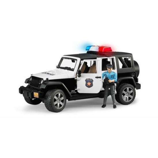 Picture of Jeep Rubicon police with man
