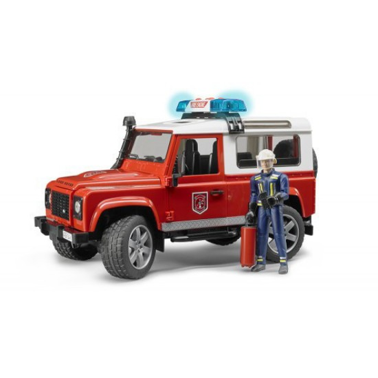 Picture of Land Rover fire vehicle with fireman