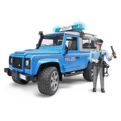 Picture of Land Rover police with policeman