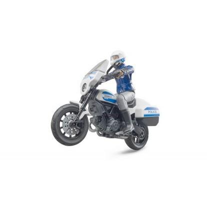 Picture of Policeman with Ducati Scrambler motorbike