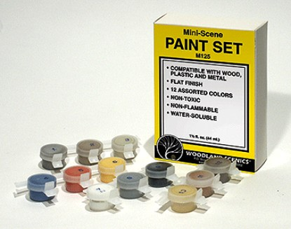 Picture of Mini-Scene Paint Set -- 12 Nontoxic, Nonflammable Colors - 1-1/2oz  Bottles