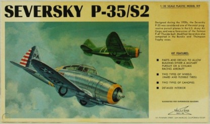 Picture of Seversky P-35/S2 US Army Air Corps. Fighter kit