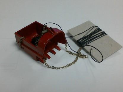 Picture of Dragline bucket/fairlead  built  red