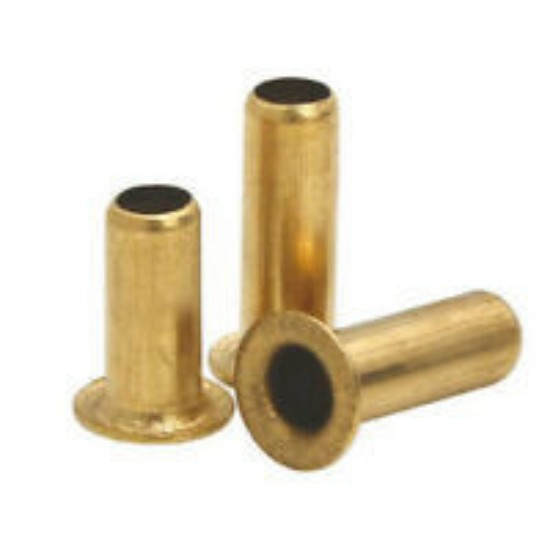 Picture of Brass hollow rivets(20) 4mm Diameter x 10 mm long