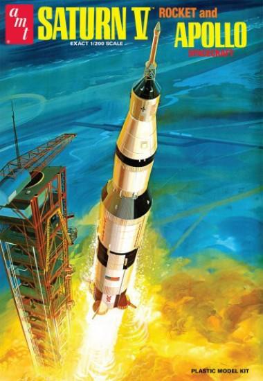 Picture of NASA SATURN V rocket & APOLLO spacecraft