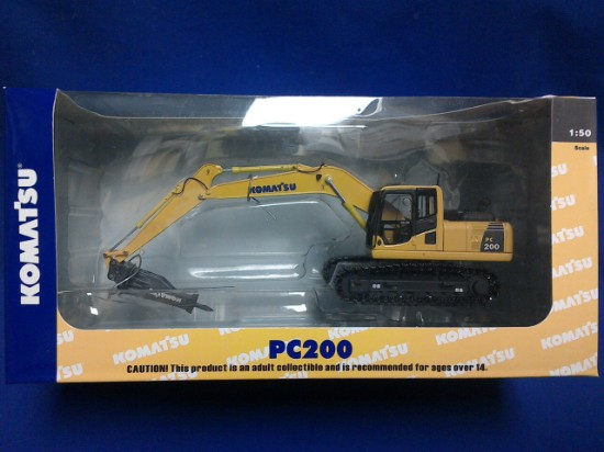 Picture of Komatsu PC200-8 track excavator with hammer