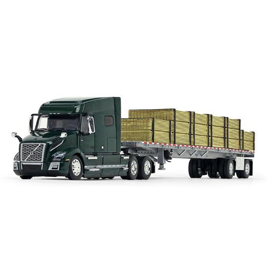 Picture of Volvo®  740 Mid-Roof Sleeper + Wilson® Flatbed Trailer + Lumber Load
