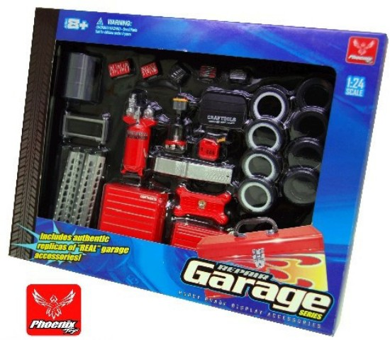 Picture of Repair Garage  Accessories:- Tools,Tires ,gas  & more