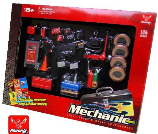 Picture of Mechanic Accessories:- Tools,Tires ,gas,  Air compressor, cones & more