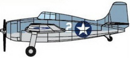 Picture of F4F-4 Wildcat Carrier-Based Fighter Set  Set(4/Box) prepainted