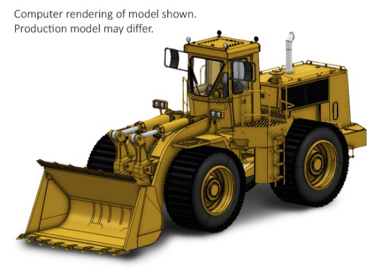 Picture of Cat 988B wheel loader - beadless tires