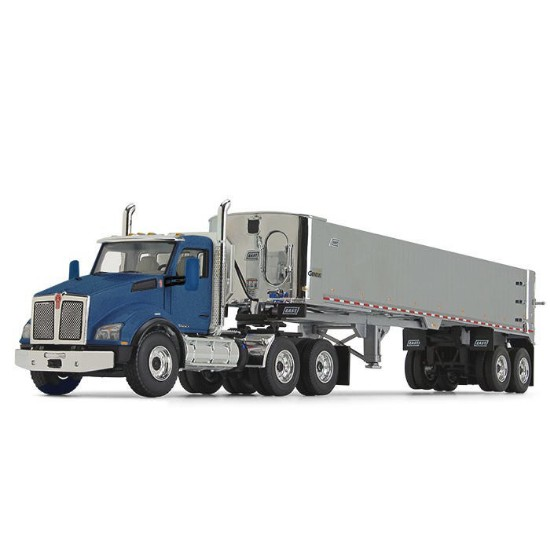 Picture of Kenworth® T880 with East® Genesis™ End Dump Trailer - Surf Blue/Chrome