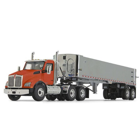 Picture of Kenworth® T880 with East® Genesis™ End Dump Trailer - burnt orange/Chrome