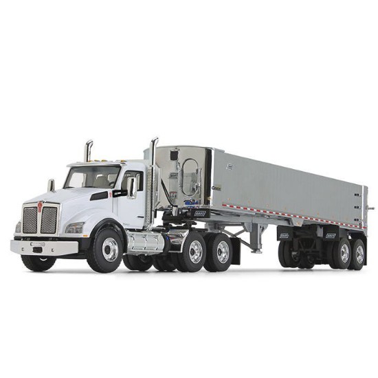 Picture of Kenworth® T880 with East® Genesis™ End Dump Trailer - white/Chrome