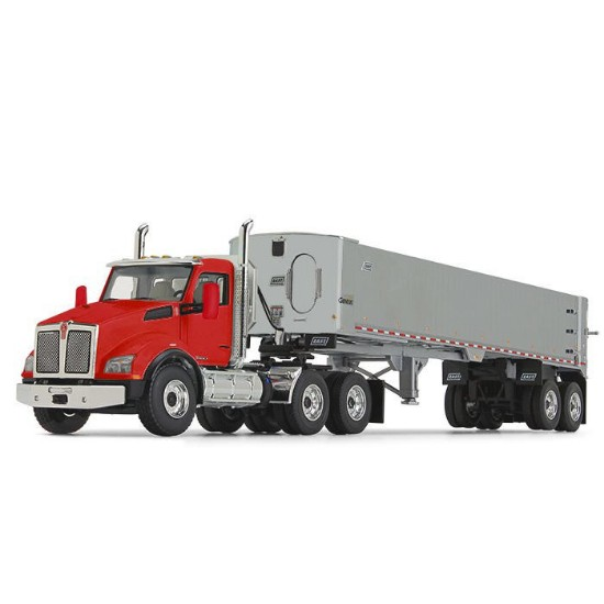 Picture of Kenworth® T880 with East® Genesis™ End Dump Trailer - red/silver