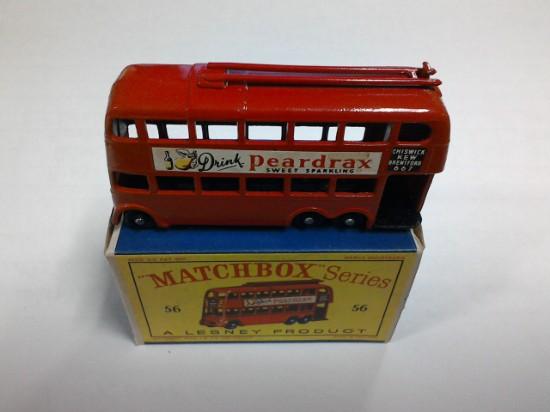 Picture of London Trolley bus - black wheels - Peardrax