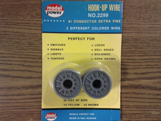 Picture of CONDUCTOR - #1 extra fine 25' brown + 25' yellow hook-up wire
