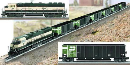 Picture of Burlington Northern Coal Train Set (TMCC SD70