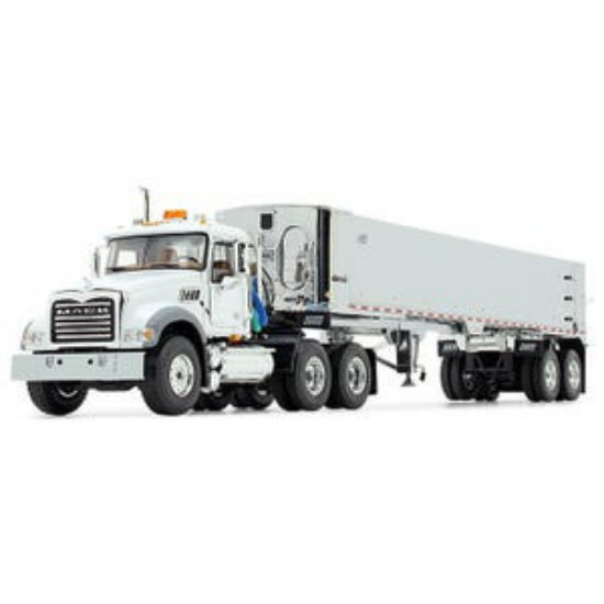 Picture of Mack® Granite® MP and East® Genesis™ End Dump Trailer- white/chrome