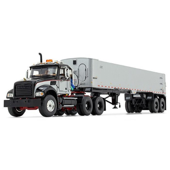 Picture of Mack® Granite® MP and East® Genesis™ End Dump Trailer- black/red/silver