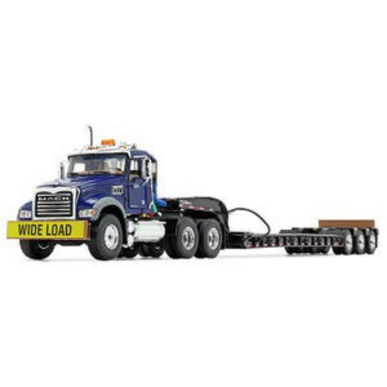 Picture of Mack® Granite® MP and Talbert® Tri-Axle Lowboy - blue/black