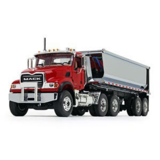 Picture of Mack Granite® with Round Body End Dump Trailer - red