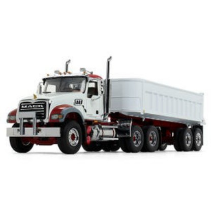 Picture of Mack Granite® with Round Body End Dump Trailer - white