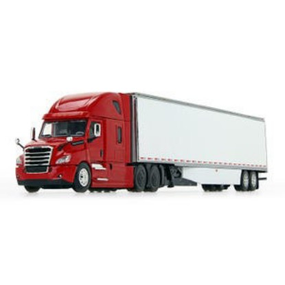 Picture of Freightliner Cascadia with 53' van trailer   - red/white