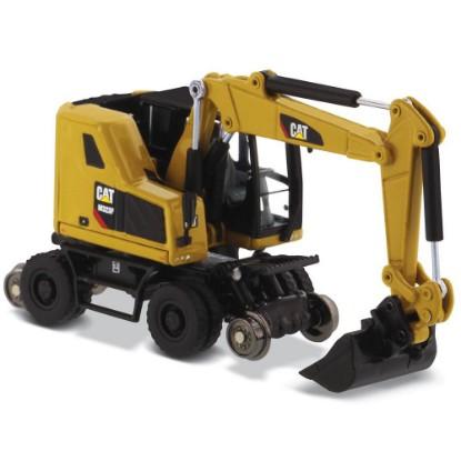 Picture of Caterpillar M323F wheel excavator with rail hi-wheels - Cat yellow