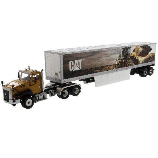 Picture of Caterpillar CT660 with Cat mural trailer