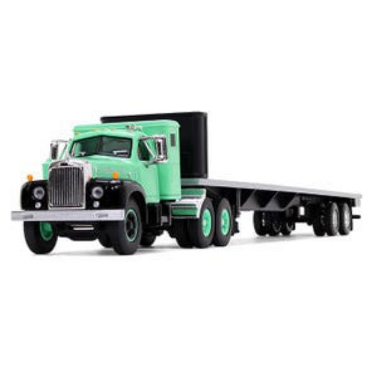 Picture of Mack 1960 B-61 Tracotr & 48' flatbed Trailer- green/black