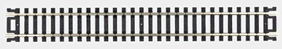 "Picture of HO Straight  Nickel-Silver Rail - 9"" (Black Ties) pkg(6)"