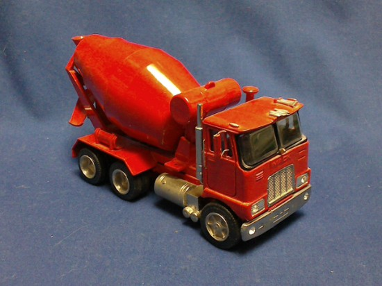 Picture of Mack concrete mixer - red