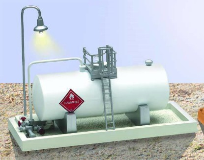 Picture of Industrial storage tank with light