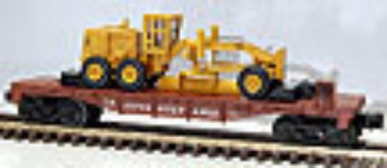 Picture of Flatcar Pennsylvania with Cat 12G grader