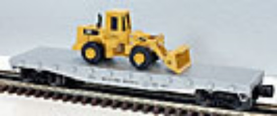 Picture of Flatcar Western Pacific  with Cat 950F loader