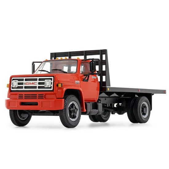 Picture of 1970's GMC 6500 flatbed red/black