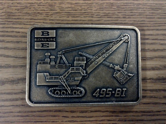 Picture of Belt Buckle - Bucyrus-Erie 495 BI cable shovel