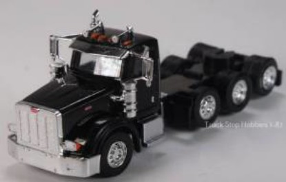 Picture of Peterbilt 367 4 Axle  Daycab - 2 Pack -black